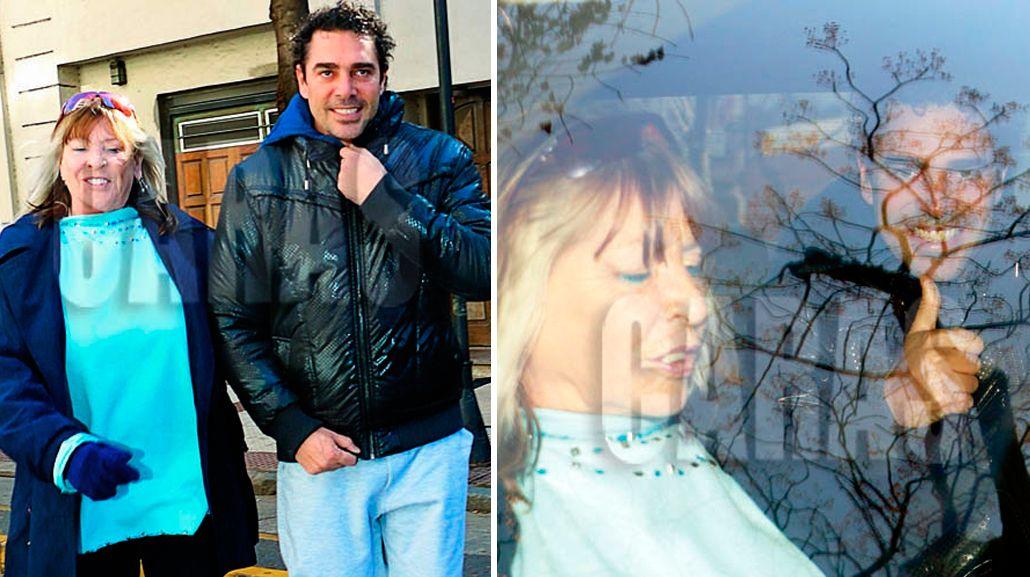 Las fotos de la primera salida transitoria de Matías Alé, junto a su madre Elena