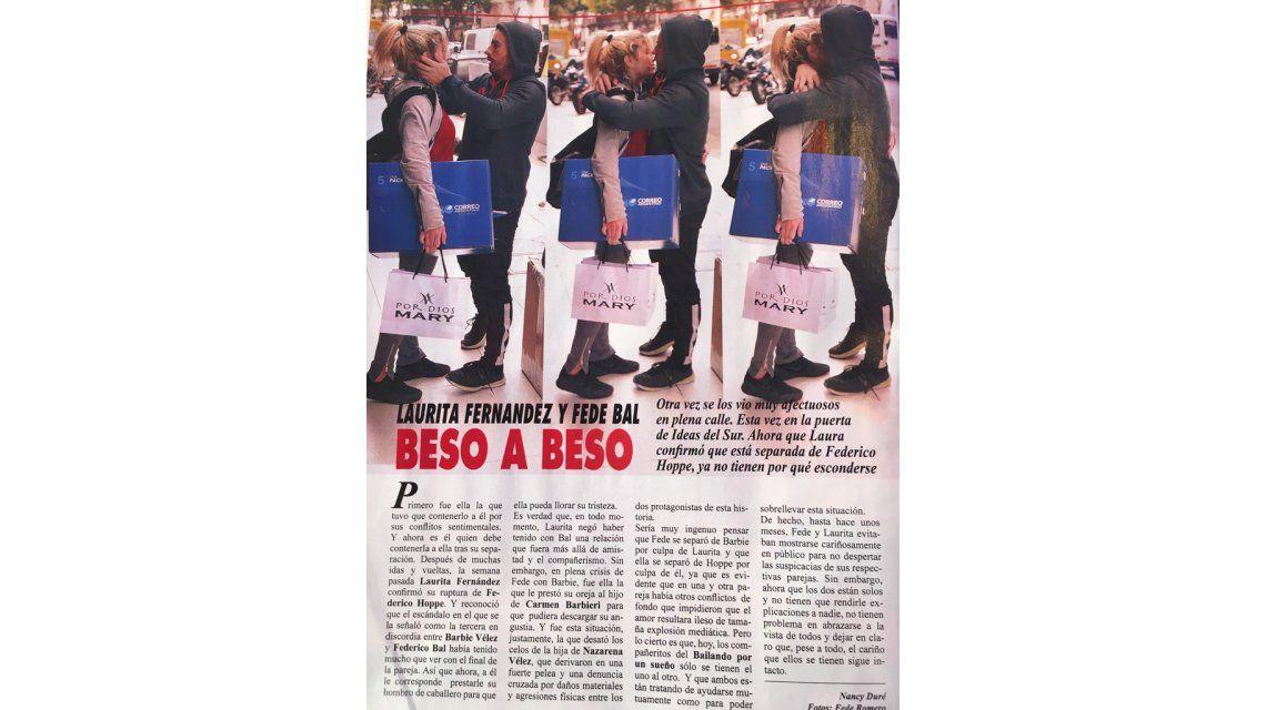 Una revista muestra a Laurita Fernández y Federico Bal beso a beso, la bronca de los dos: Qué &€?%#!$£#!!?!! ganas de romper las...