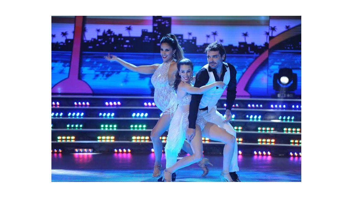 Lourdes Sánchez bailó salsa embarazada y le hizo un especial pedido a Tinelli