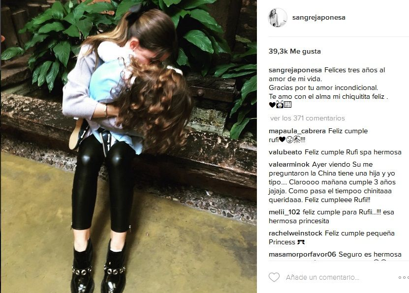 Emotivo mensaje de la China Suárez por el cumpleaños de su hija Rufina