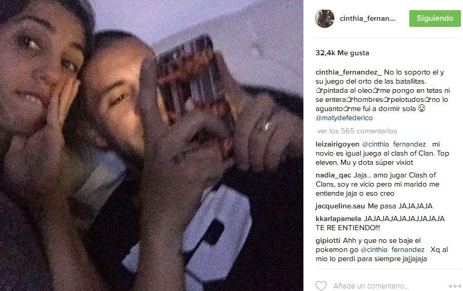 El divertido reclamo hot de Cinthia Fernández a Matías Defederico: Me pongo en tet.. y él ni se entera