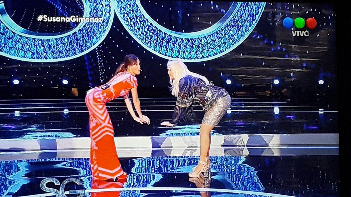 La China Suárez le enseñó a Susana a bailar el sensual work de Rihanna