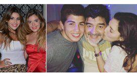 Mientras a Dalma y Gianinna no les habla, Maradona se muestra con Jana y su novio