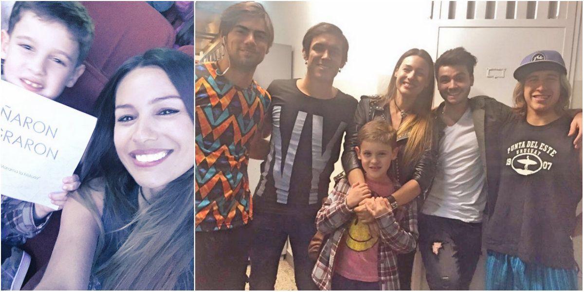 Pampita, invitada especial del show de Marama: mirá las fotos con su hijo y la banda