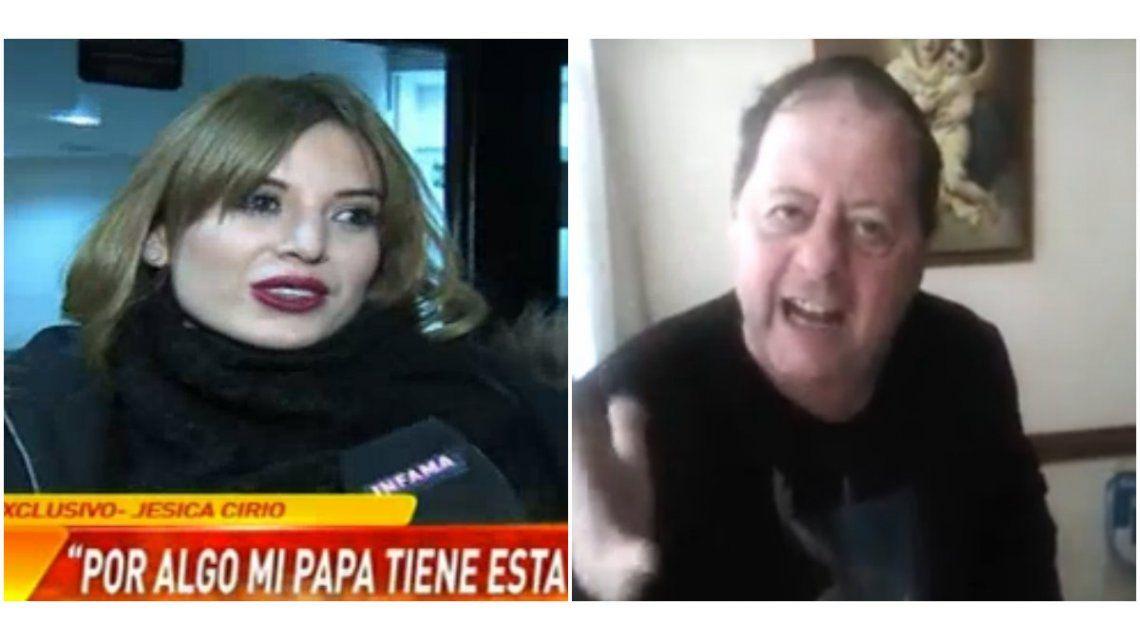 Violento video del padre de Jésica Cirio amenazando con pegarle: la respuesta de ella