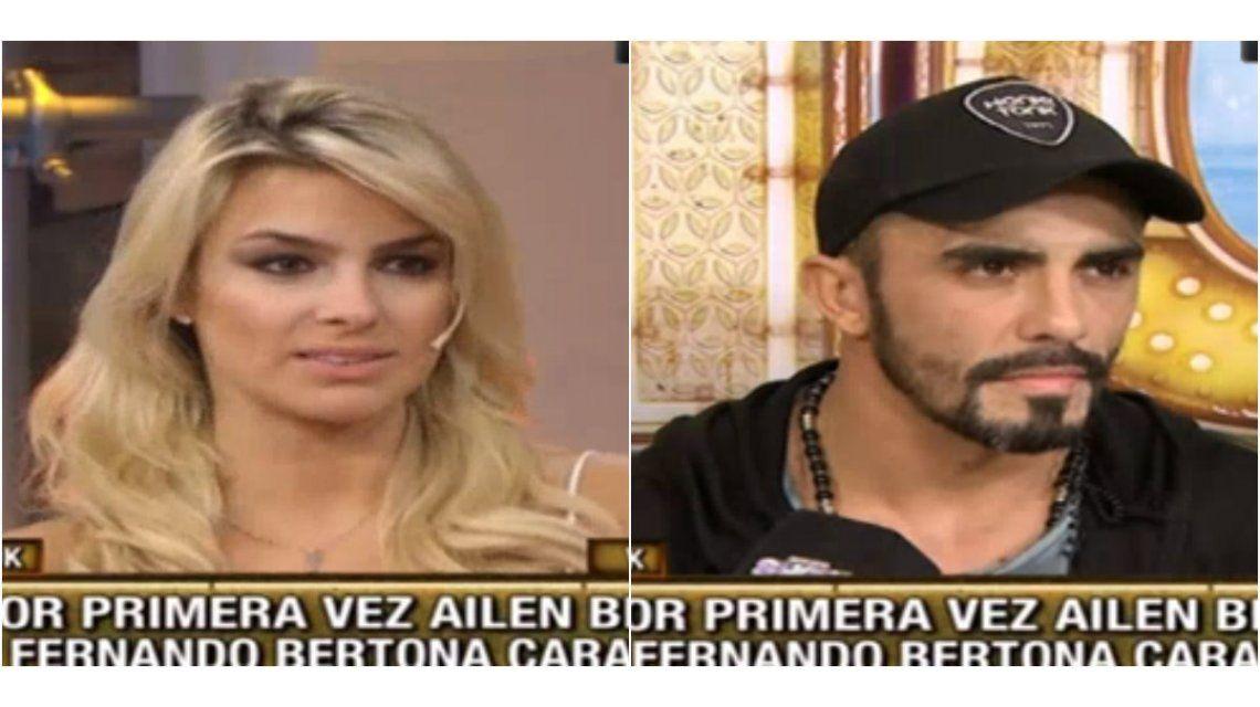Angustia y tensión en vivo: Ailén Bechara y Fernando Bertona se reencontraron tras la ruptura