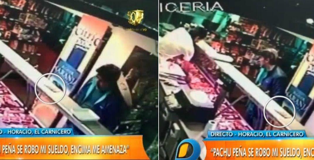 Confuso episodio de Pachu Peña en una carnicería: lo acusan de haber robado plata