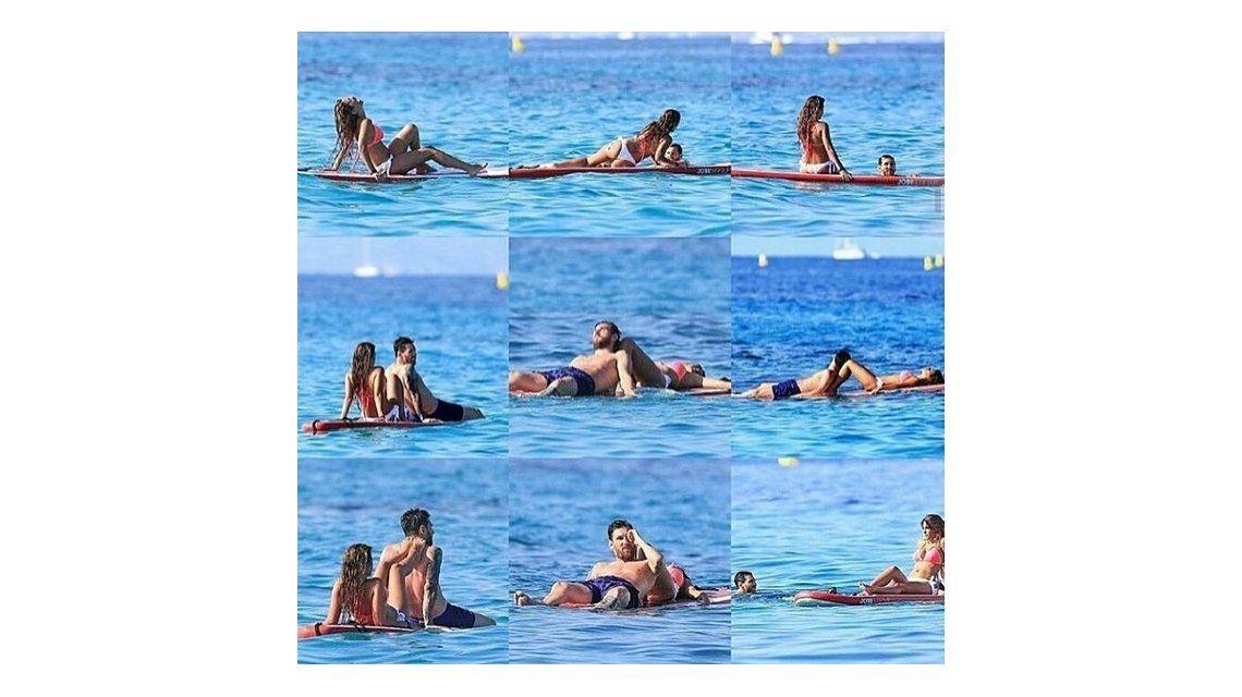 Amor en el agua: las románticas fotos de Leo Messi y Antonella Roccuzzo en Ibiza