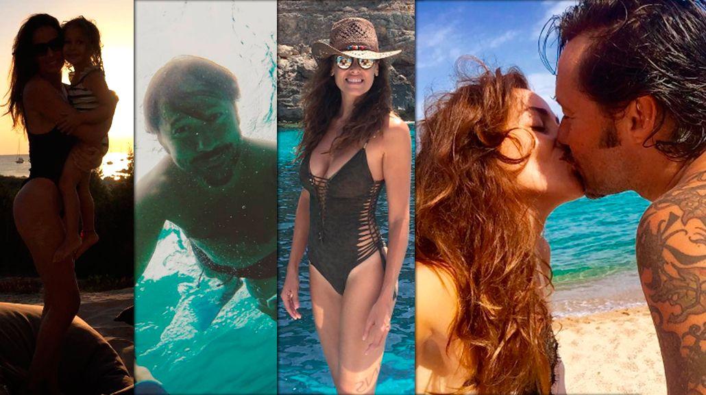 La intimidad de las paradisíacas vacaciones de Diego Torres, Débora Bello y su hija Nina