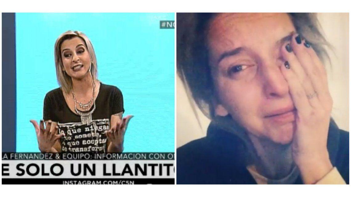 Maru Fernández explicó por qué subió el video llorando y aclaró: Estoy bien, ¡fue un llantito!