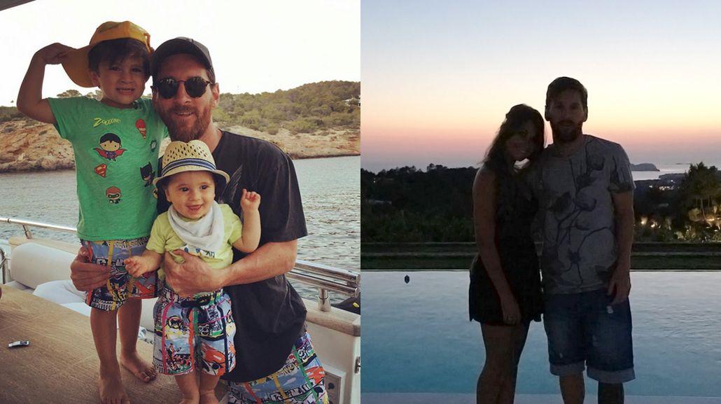 Antonella Roccuzzo publicó fotos de sus vacaciones junto a Lionel Messi y sus hijos: imposible amarlos más