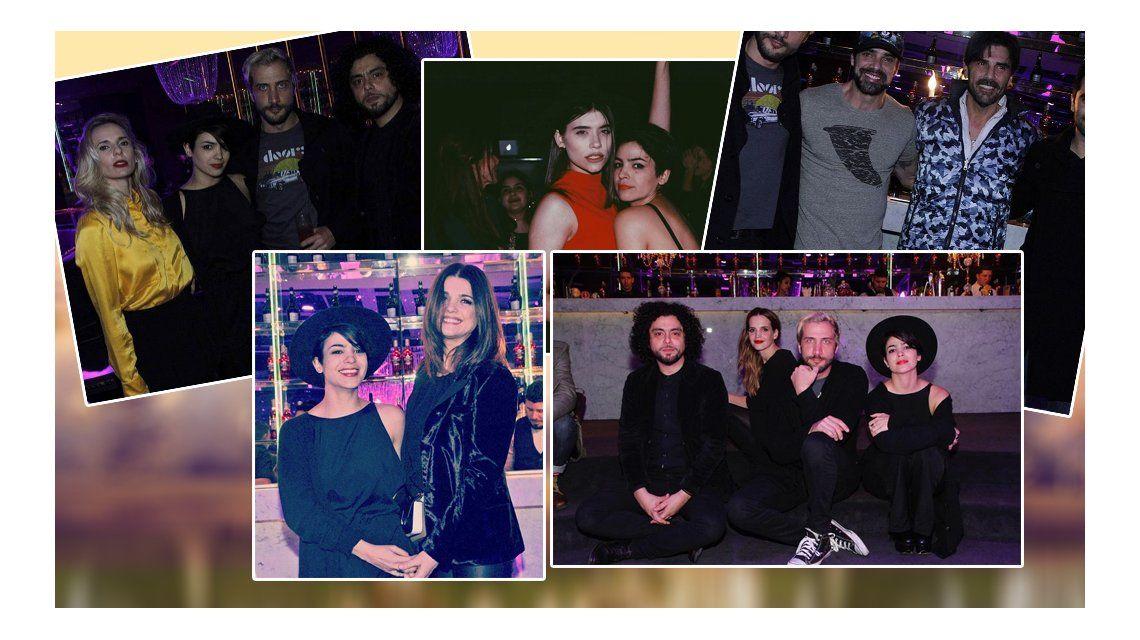La fiesta del elenco de Los ricos no piden permiso: Agustina Cherri, Araceli, Luciano Cáceres, muy divertidos