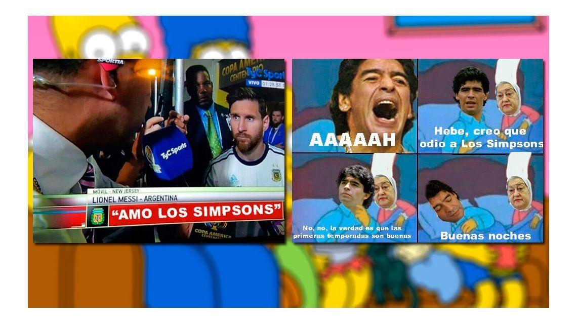 Furor por el odio a los Simpson de Diego Maradona: los mejores memes