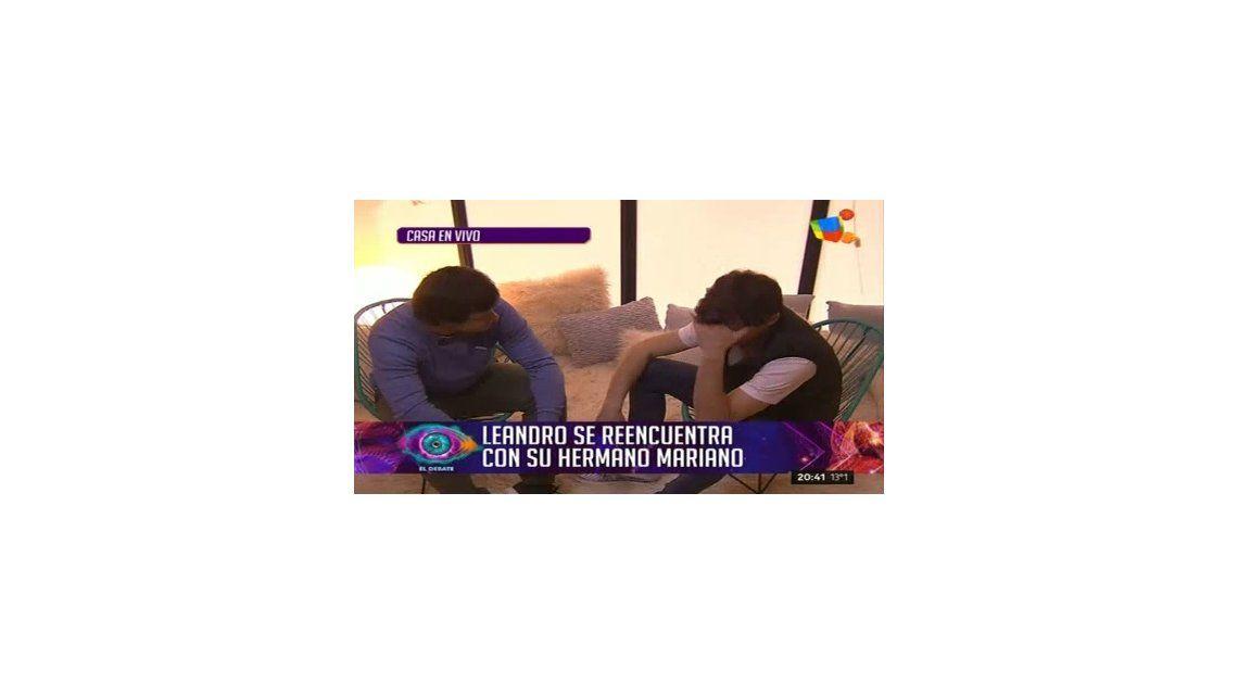 Emotivo reencuentro de Leandro con su hermano: No es lo que se ve en la TV, se sufre un montón