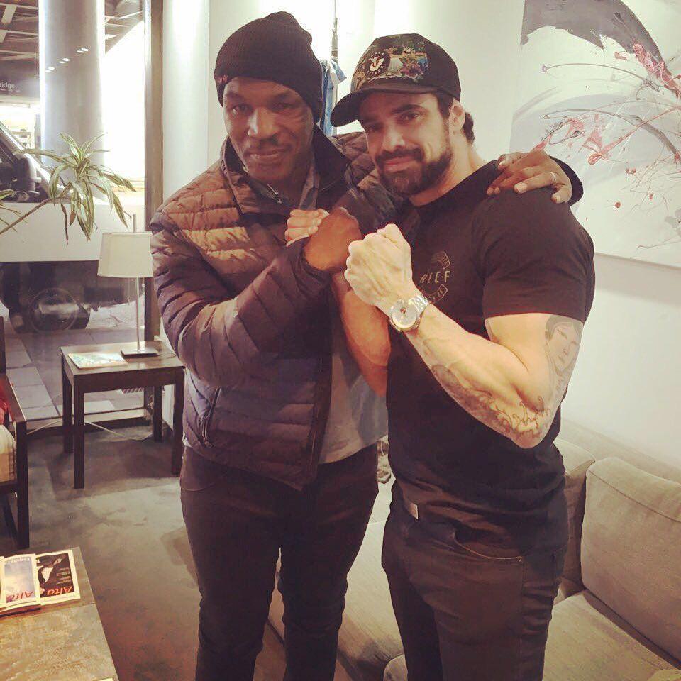 ¿Vuelve a pelear? El encuentro de Luciano Castro con Mike Tyson