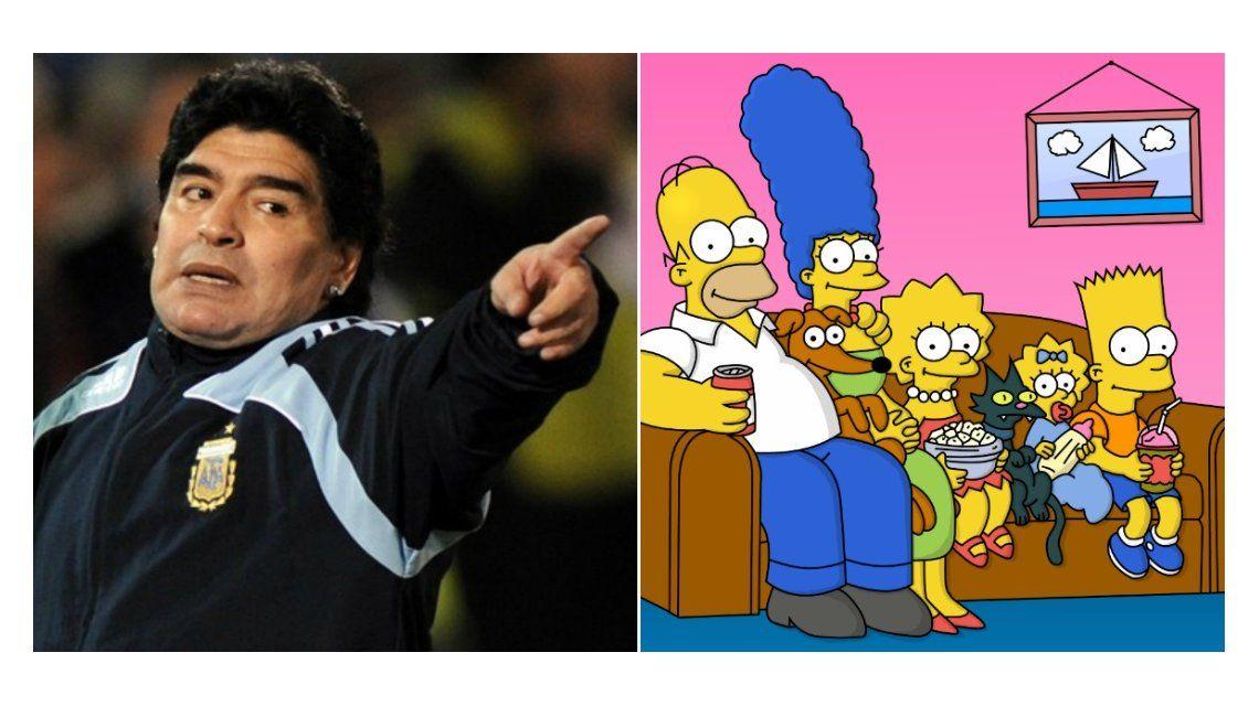 La extraña confesión de Diego Maradona: Odio a Los Simpson
