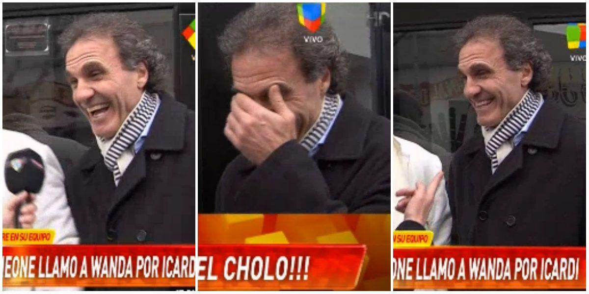 La risa contagiosa de Oscar Ruggeri cuando le preguntaron por Wanda Nara... ¡como representante de Icardi!