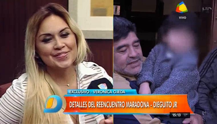 Verónica Ojeda reveló qué le dijo Dieguito Fernando a Maradona en su encuentro
