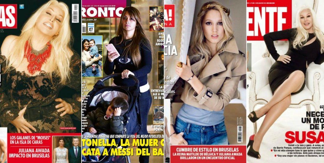 Tapas de revistas: Susana Giménez confiesa por qué renunció al amor y Antonella Roccuzzo, el sostén de Messi