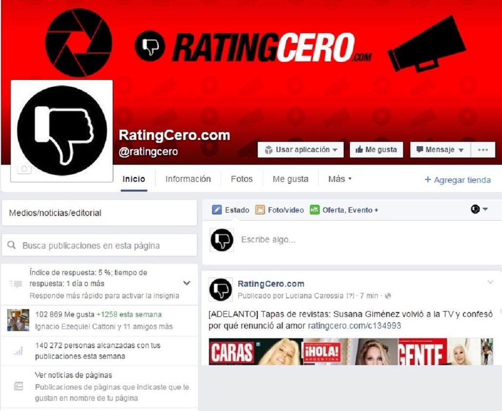 ¿Cómo seguir leyendo ratingcero.com en Facebook?