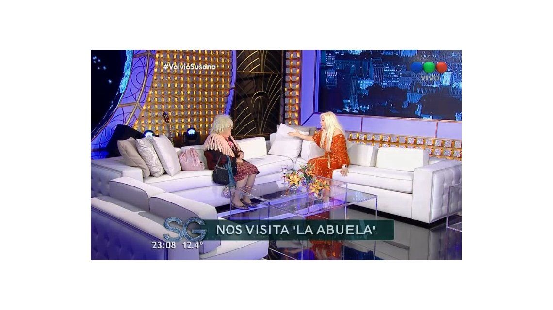 El regreso de La abuela: las incómodas preguntas y chicanas a Susana en vivo