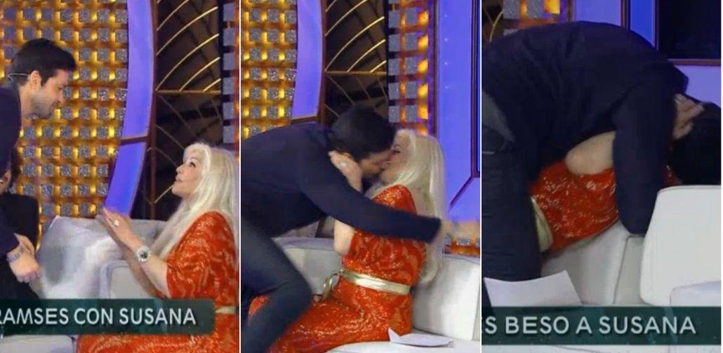 Susana Giménez volvió a la TV y arrasó con el rating: la entrevista con Moises y Ramses y ¡beso fogoso con la diva!
