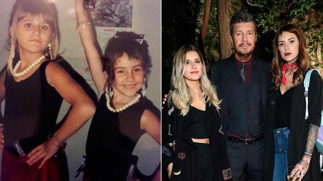 La foto vintage de Cande y Micaela Tinelli, y la dedicatoria de Marcelo: Las amo