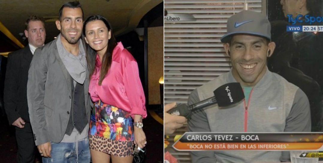 Saqué el romanticón que tengo adentro, bromeó Carlos Tevez sobre la declaración de amor a su mujer