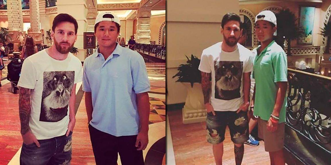 Las primeras imágenes de Lionel Messi en Bahamas: fotos con fans y ¡sigue la barba!