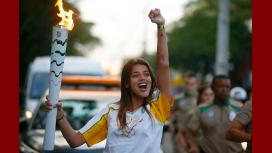 Polémica con Calu Rivero por llevar la antorcha de los Juegos Olímpicos Río 2016
