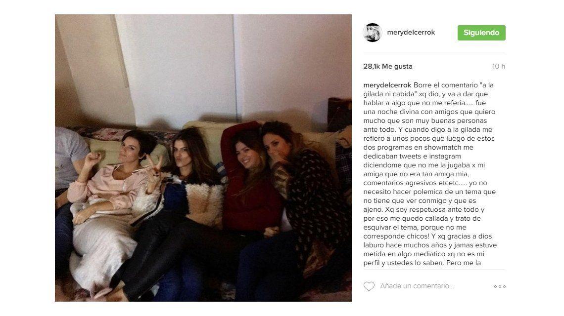 María del Cerro borró su comentario e hizo un contundente descargo: Cuando digo a la gilada me refiero a...