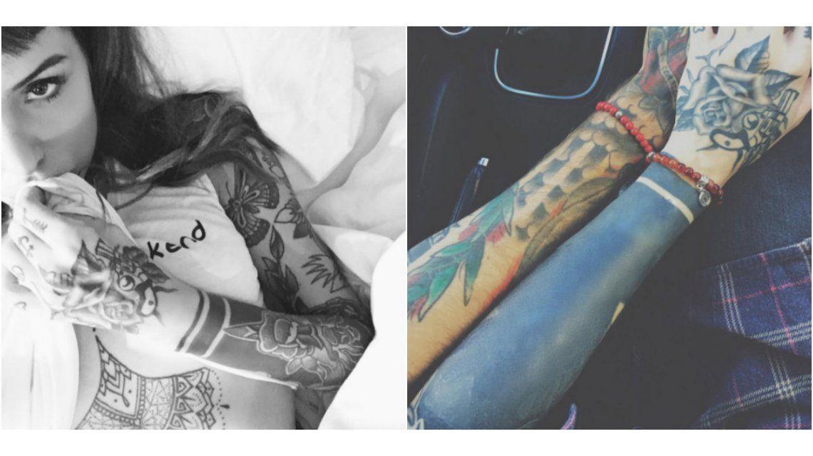 Candelaria Tinelli se cansó del viejo diseño y ¡se tatuó el brazo de negro!