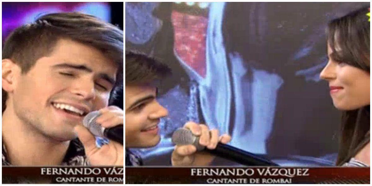 Fernando Vázquez, de Rombai, presentó a su novia y le cantó a capela: Es para sacarle una sonrisa