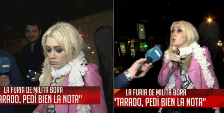 La furia de Militta Bora contra un cronista: Cuando tu mamá esté internada, voy a decir que está actuando