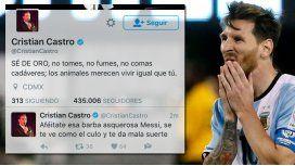 Cristian Castro criticó a Messi y después se arrepintió: Esa barba asquerosa...
