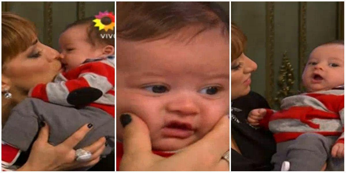 ¡Show de mimos! María Julia Oliván llevó a su hijo Antonio a la mesa de Mirtha Legrand