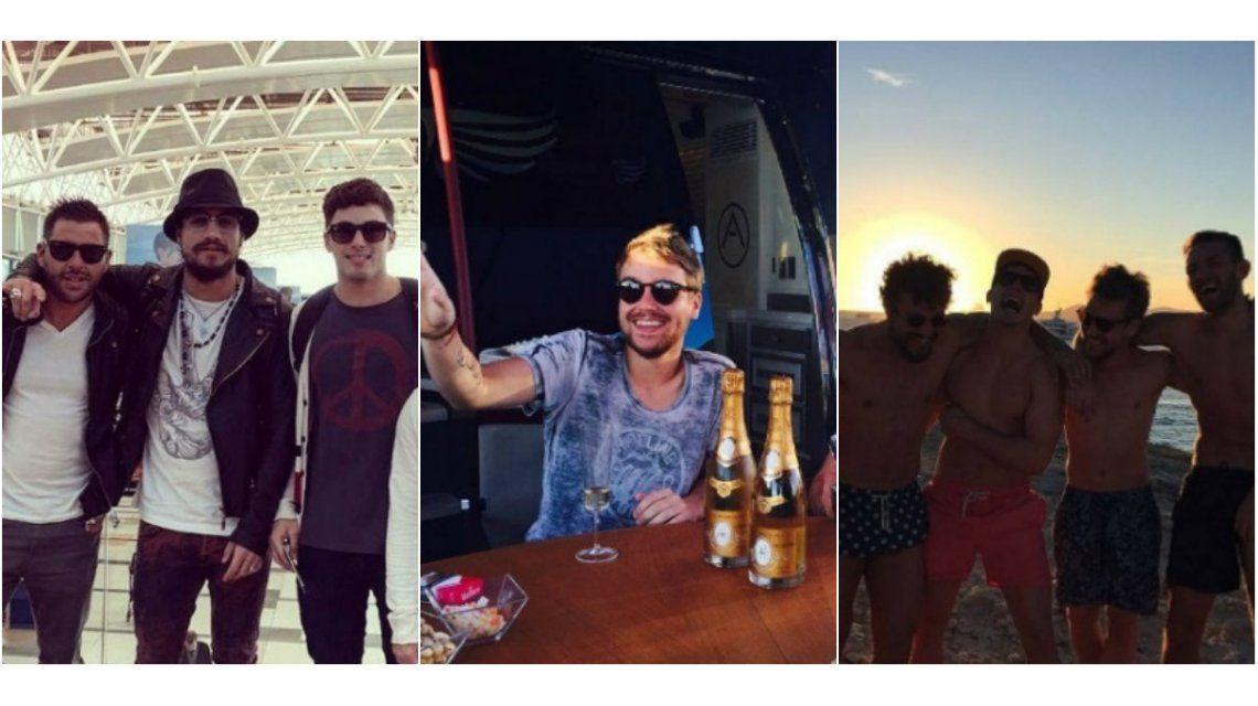 En Ibiza, a puro champagne y en un yate: así se muestra Daniel Osvaldo separado de Jimena Barón