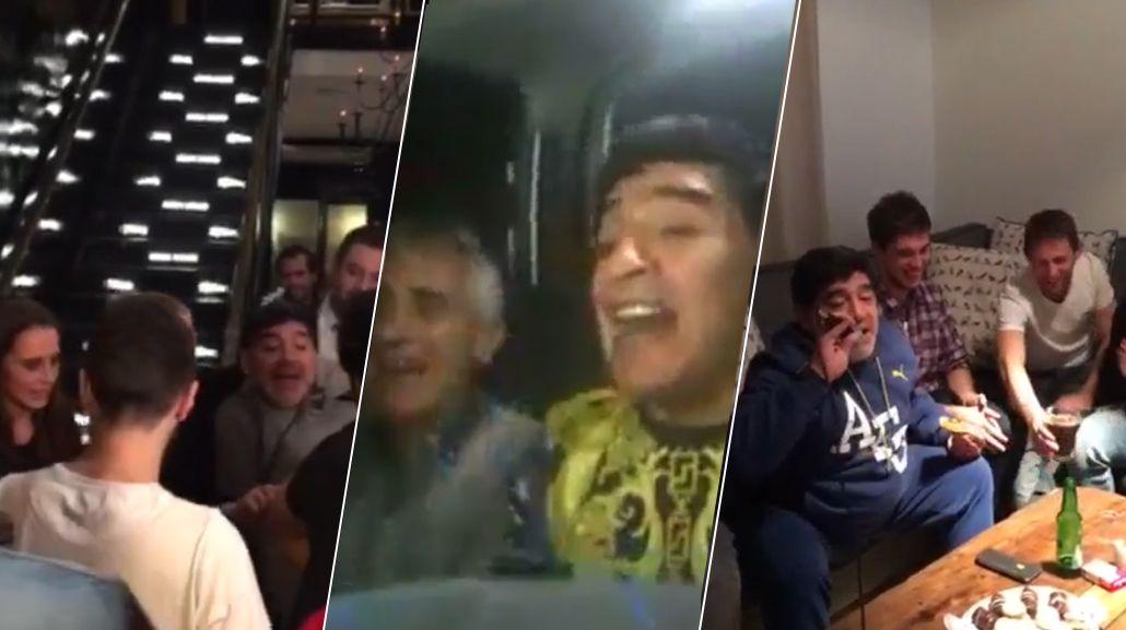Los días de Diego Maradona en Buenos Aires: marcha peronista y cumbia con amigos
