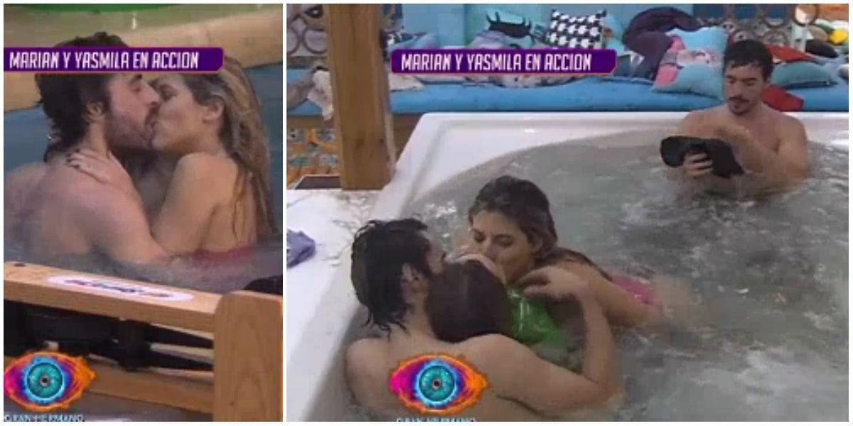 Marian y Yasmila, a los besos con Dante y Pato: todos con todos