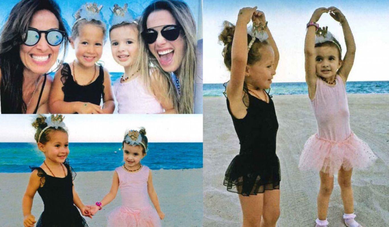 Las hijas de Diego Torres y Chechu Bonelli practican ballet en las playas de Miami