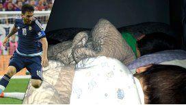 La emoción de Antonella y sus hijos por el récord de Lionel Messi en la Selección