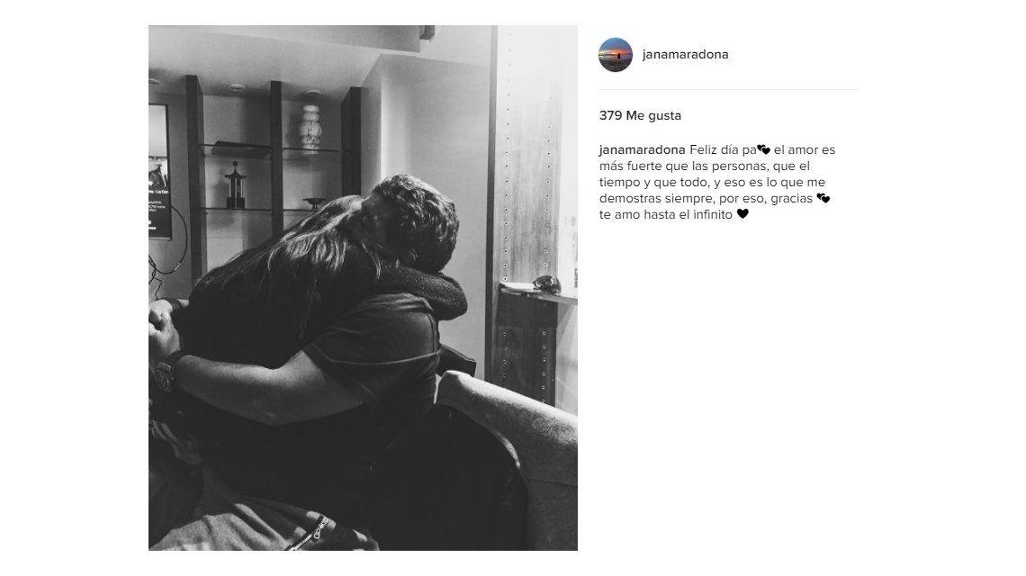 El especial mensaje de Jana a Diego Maradona: El amor es más fuerte que las personas, el tiempo y todo