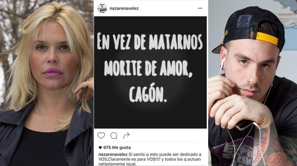 El polémico mensaje de Nazarena Vélez contra Fede Bal que después borró: En vez de matarnos...