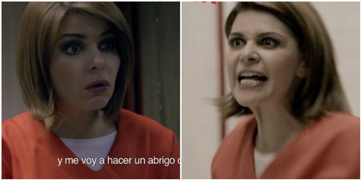 Soraya, de María la del Barrio, en la serie OITNB: ¡No quiero estar con estas marginales!