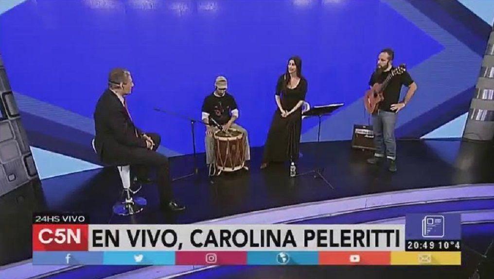 Video: Mirá el show de Carolina Peleritti con su banda en C5N