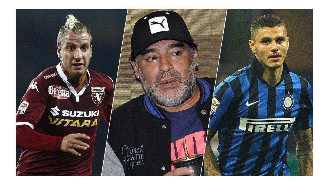 Diego Maradona defendió a Maxi López y atendió a Mauro Icardi: Los sincódigo para mí están muertos