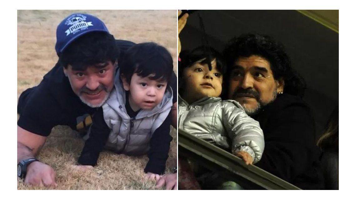 Diego Maradona, en la Argentina, prometió visitar a Dieguito Fernando y expresó su devoción por su nieto: Benja me infla el alma
