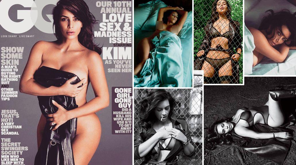 Kim Kardashian bajó 32 kilos después de tener a su hijo y se desnudó para una revista