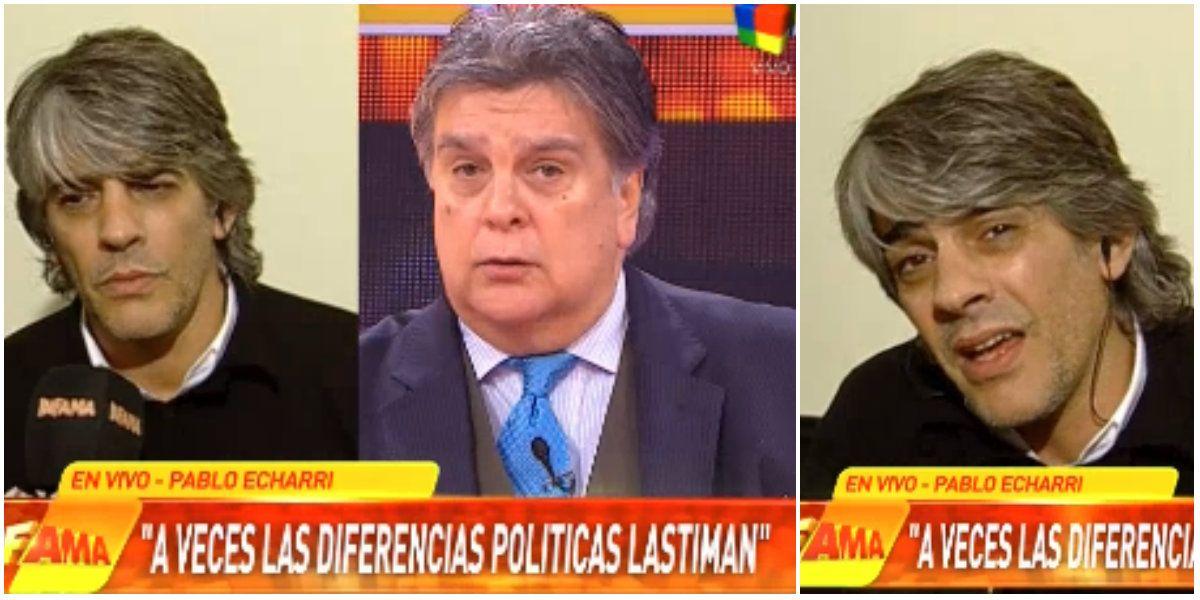 Tenso intercambio entre Pablo Echarri y Ventura: Tenés una idea vieja de mí, Luis