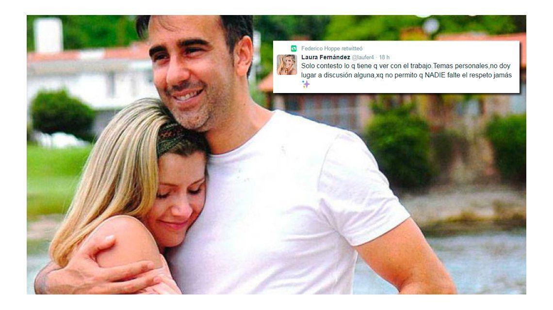 El picante retuiteo de Fede Hoppe de un estado de Laurita Fernández